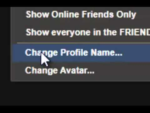 How to change your steam ONLINE NAME