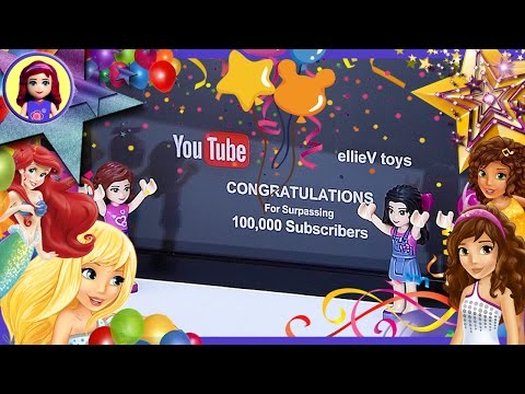 100 000 Subscribers Thank you! Hour Silly Play Lego Friends Princess Elves Calico Critters Kids Toys
