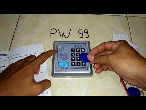 Program coding RIFD KEYFOB and RFID CARD