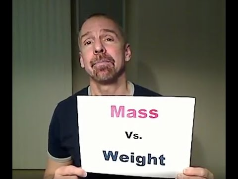 The Mass Vs Weight Song - NOW WITH CLOSED CAPTION SO YOU CAN SING ALONG! Mr. Edmonds -