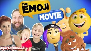 THE EMOJI MOVIE 😜 Movie Review for KIDS, Emoji Movie Surprise Toys Blind Bags + Poop Emoji Surprise