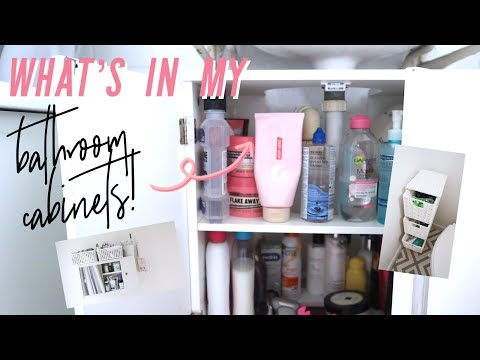 WHAT'S IN MY BATHROOM CABINET| FAMILY BATHROOM TOUR