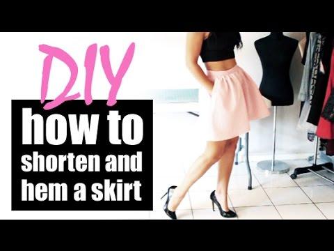 DIY: How to shorten and hem a skirt | Raylene Harvey