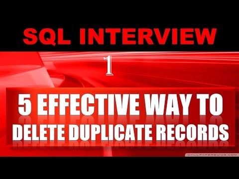 How to Delete the Duplicate Records in oracle