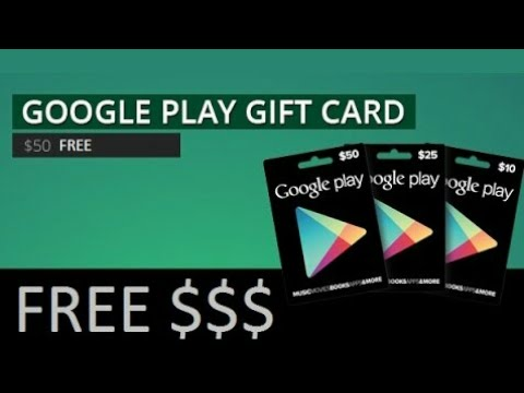 Free Google play GIFT CARDS GIVEAWAY $5 , $10 , $25 , $50 gift card