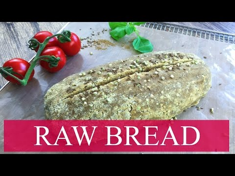 SUPER HEALTHY RAW BREAD - NUT FREE, SALT FREE AND FULL OF FLAVOR