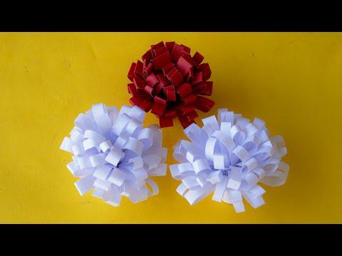 Awesome Swirly Paper Flowers Cutting by SrujanaTV
