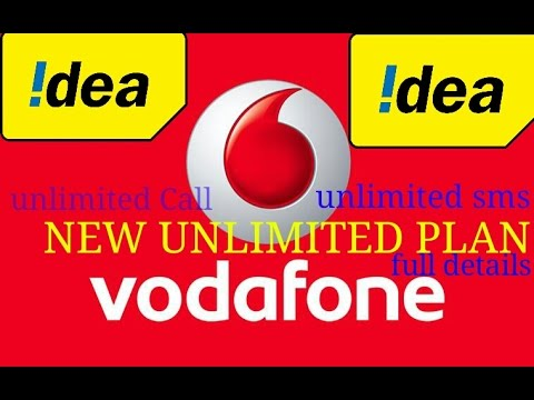 Vodafone & Idea Unlimited plan at cheapest price. (Call+Data)