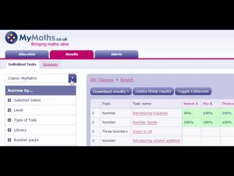 The Curriculum Selector for Primary MyMaths users