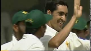 Umar Gul W W W W W vs India 2nd Test 2004 at Lahore