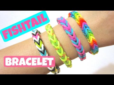 Fishtail Rainbow Loom Bracelet without Loom/ using 2 Pencils