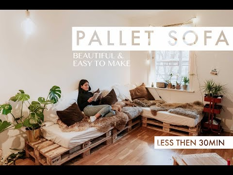 HOW TO MAKE A PALLET SOFA IN UNDER 30 MINUTES