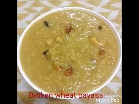 Broken wheat payasam/ Nurukku gothambu payasm