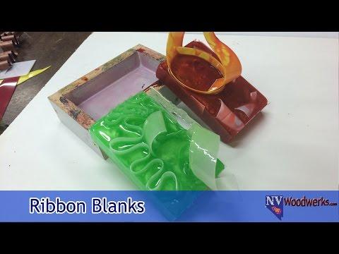 Making Ribbon Pen Blanks | Casting Alumilite Resin