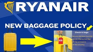 NEW Ryanair Baggage Policy From 15 Jan 2018