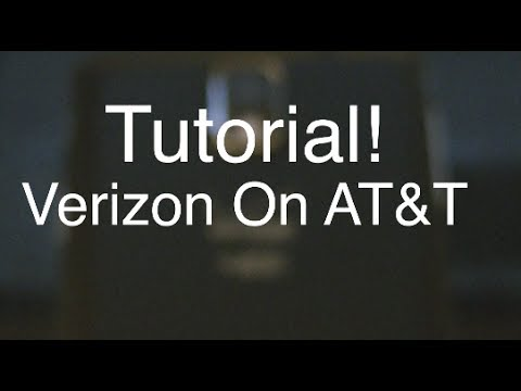 How to put a Verizon Phone on AT&T