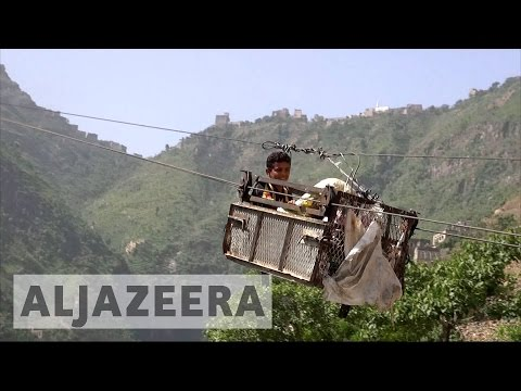 Life above the conflict: Cable car links Yemen's mountain villages