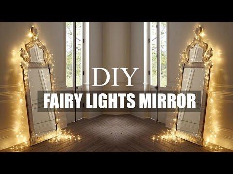 DIY ROOM DECOR | FAIRY LIGHT MIRROR