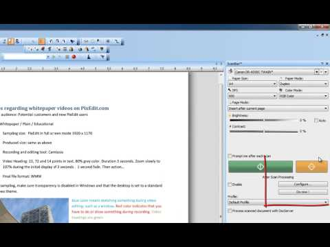 18 Scanning and automatic post processing of documents with PixEdit Scanner Software/Imaging