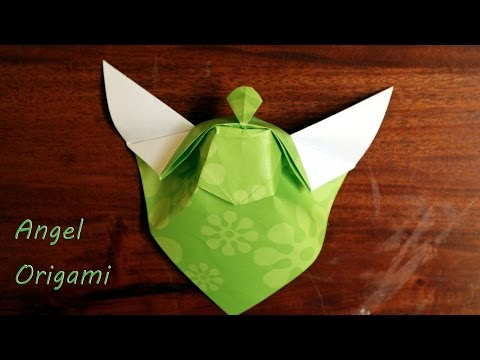 Cara buat origami malaikat origami angel step by step