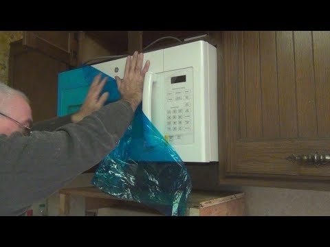 GE Over the Range Microwave Unboxing and Installation