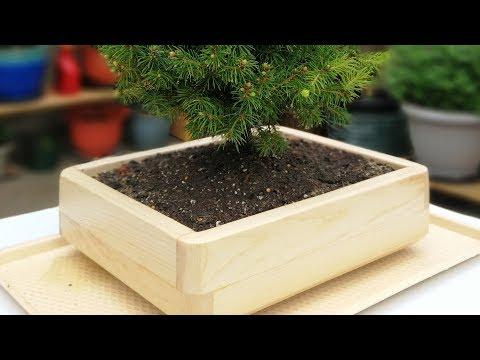 Making a Wooden Bonsai Training Pot【木工】製作木盆景盆