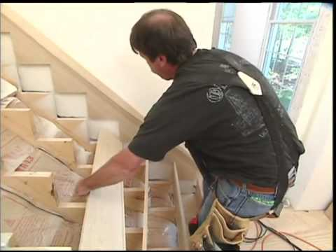 Building Wooden Stairs in the Front Hall