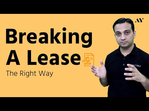 Breaking a Lease Early - The Right Way