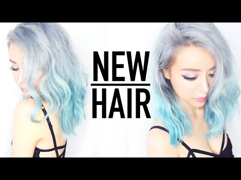 Remove Hair Color in 1 Wash Tutorial ♥ Silver Ombre Hair From Blue ♥ Wengie