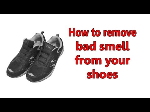 How to remove bad smell from shoes