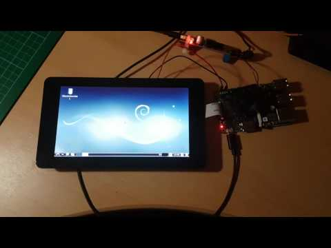 ASUS tinker board running on official raspberry pi touchscreen