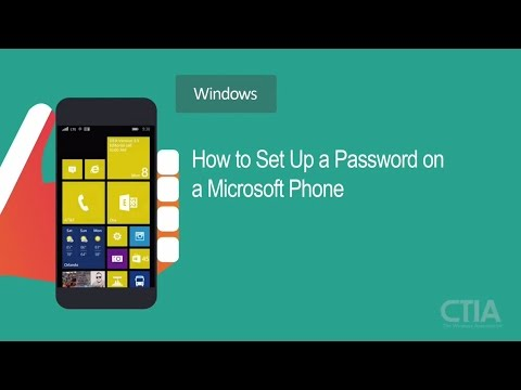How to Set Up a PIN/Password on a Windows Phone