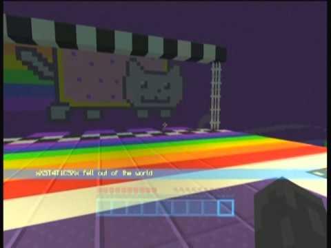 Minecraft Xbox : RAINBOW NYAN CAT PARKOUR