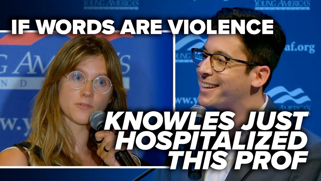 HOPE SHE'S WRONG: If words are violence, Knowles just hospitalized this prof