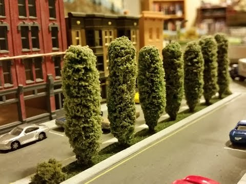 How to make N-scale model Poplar Trees