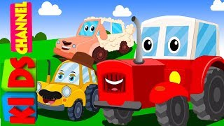 Kids channel   tractor song   vehicle songs   nursery rhymes for babies
