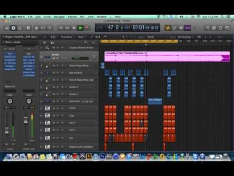 Logic Pro X-making beats using acapella (ADANACDRIVE)