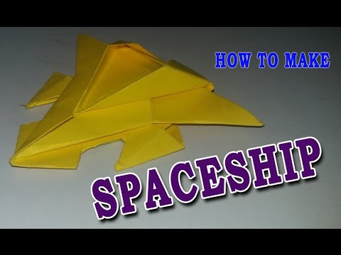 How to make paper spaceship - easy make spaceship - best spaceship - world famous easy spaceship