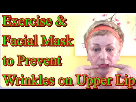 Effective Exercise and Facial Mask to Prevent Early Wrinkles on Upper Lip / #FacialSkinCare at Home