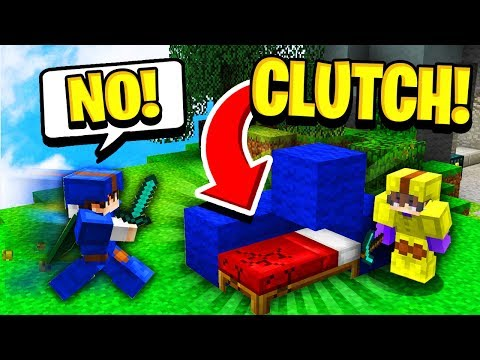 CLUTCH BED SAVE! (Minecraft Bed Wars)