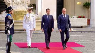 Il Presidente Conte incontra Donald Tusk a Palazzo Chigi