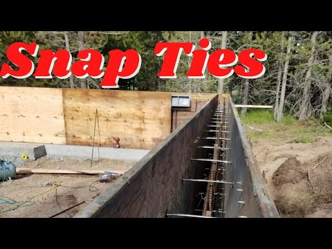 CONCRETE FOUNDATION WALLS WITH SNAP TIE FORMS