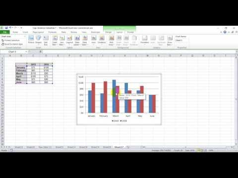 Creative way to show year over year data