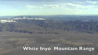 Aerial View of Sierra Nevada Mountain Range
