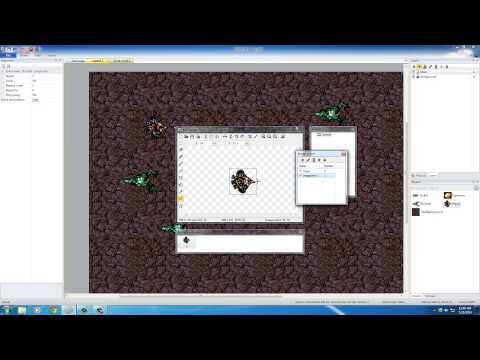 Game Development w/ Construct 2 Tutorial - 9 - Making Bullets Come From the Gun