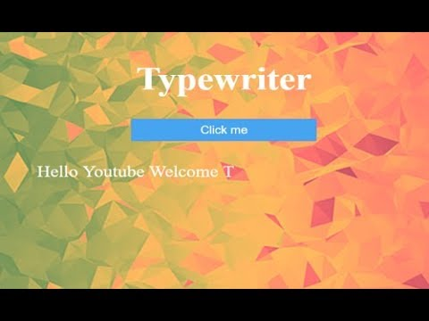 Easy Typewriter Effect Using Css3,  Typing Animation Css3
