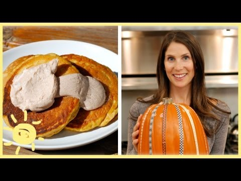EAT   Pumpkin Pancakes with Cinnamon Maple Sauce