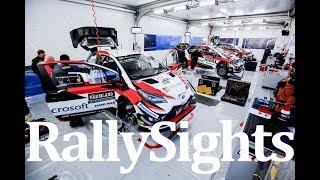 WRC Rally Sweden 2018 Service Park Torsby Toyota Yaris Ott Tänak Esapekka Lappi Jari Matti Latvala