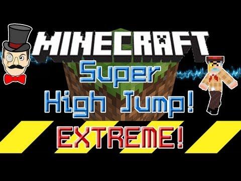 Minecraft Aether Mod SUPER HIGH JUMP Blue Aercloud Trampoline!