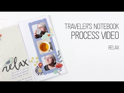 Traveler's Notebook Layout – Relax